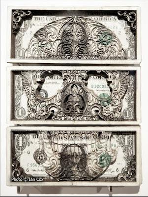 one dollar bill art. Crazy dollar bill art