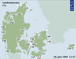Här hittar du vattentemperaturen i Öresund