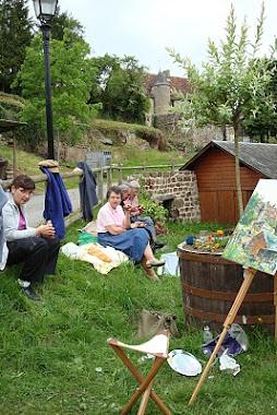 Pique nique champêtre pendant la journée des peintres