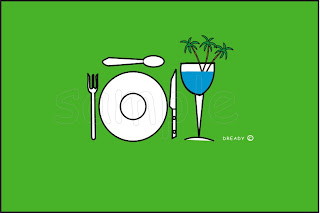 Dready, Dready Art and Everything Dready wine+glass+and+plate+green368