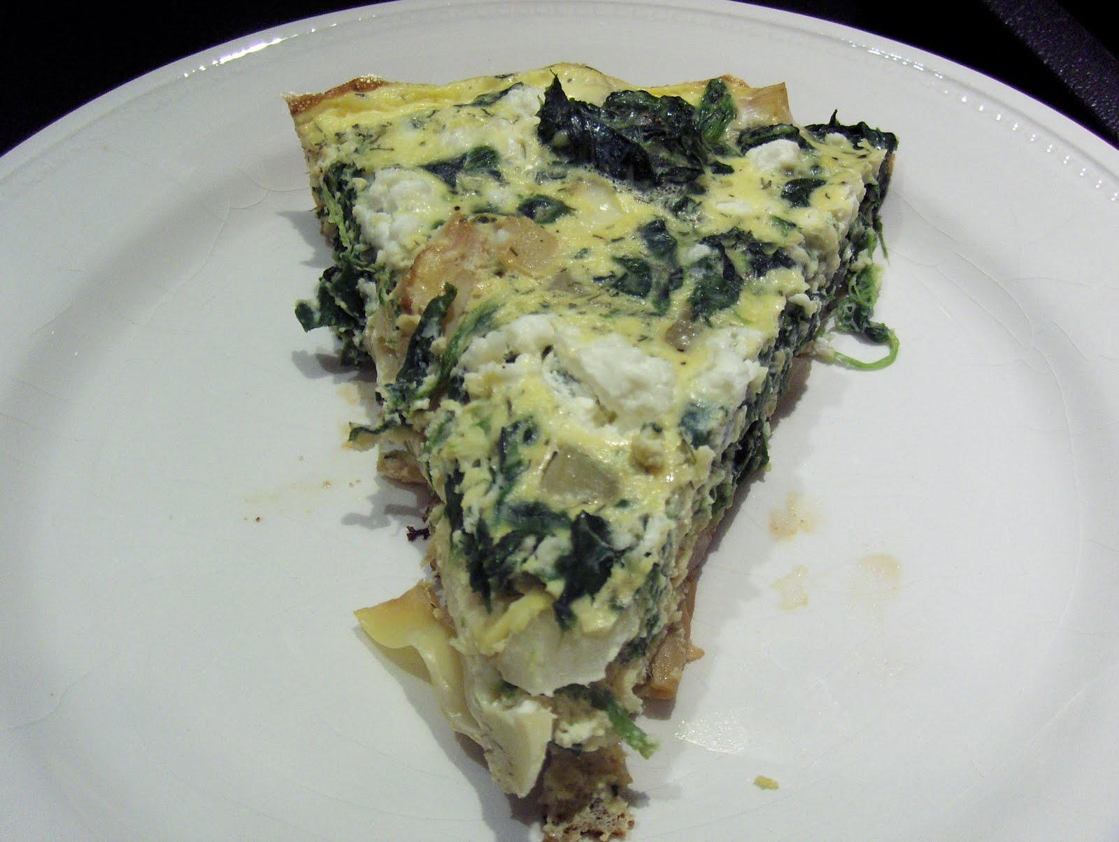 Chicken on the Green: Spinach and Artichoke Frittata