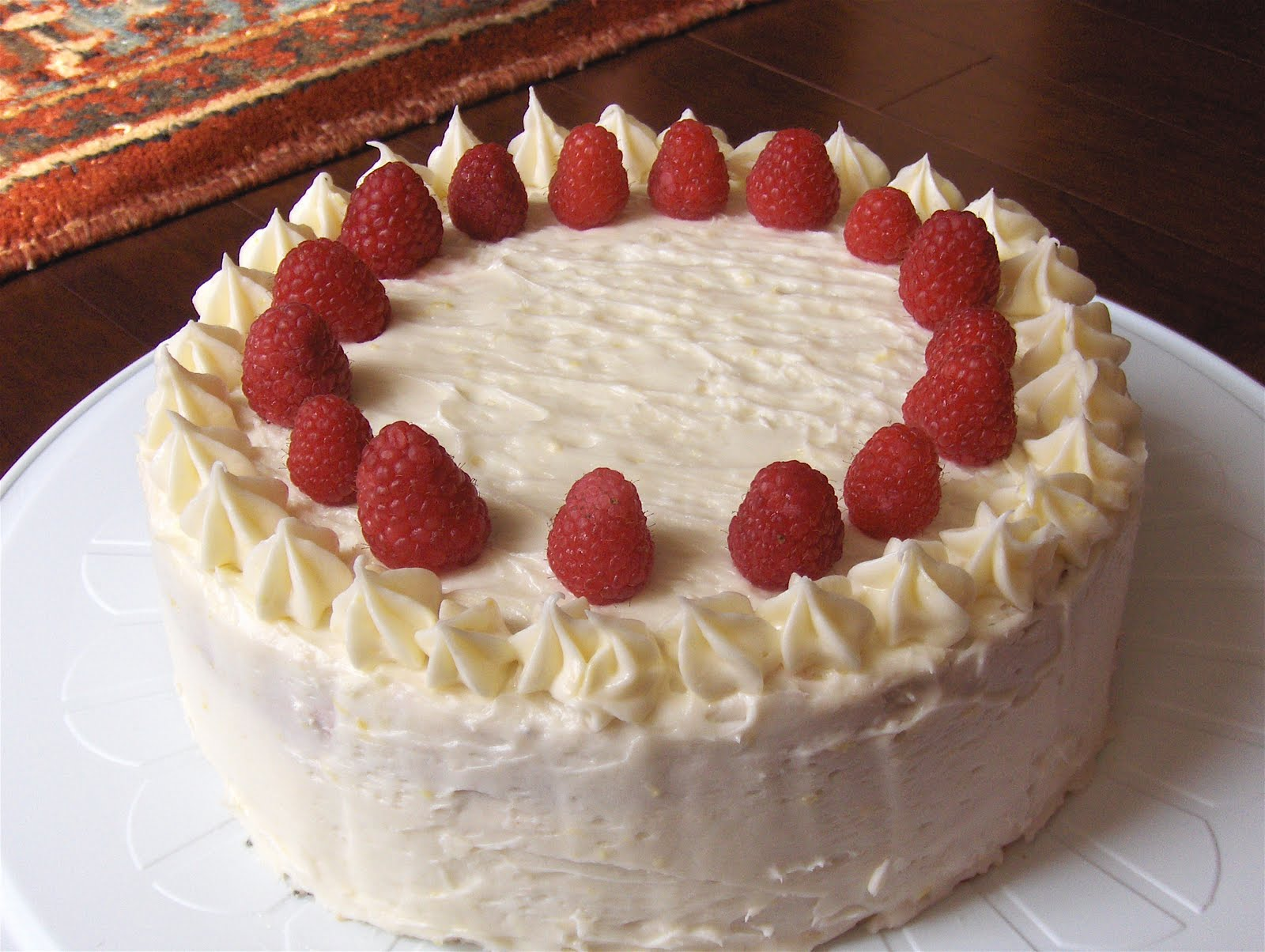 Poppy Seed Layer Cake With Raspberry Filling
