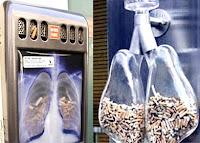 cendrier poumons transparents