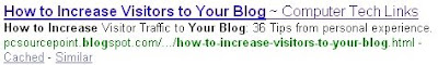 Image of basic SEO tips and increasing blog visitors at Computer Tech Links:http://pcsourcepoint.blogspot.com/