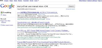 NZ Hair Straightener using advanced Google inurl Search