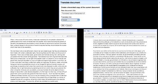 Google Docs añade característicade Traducción