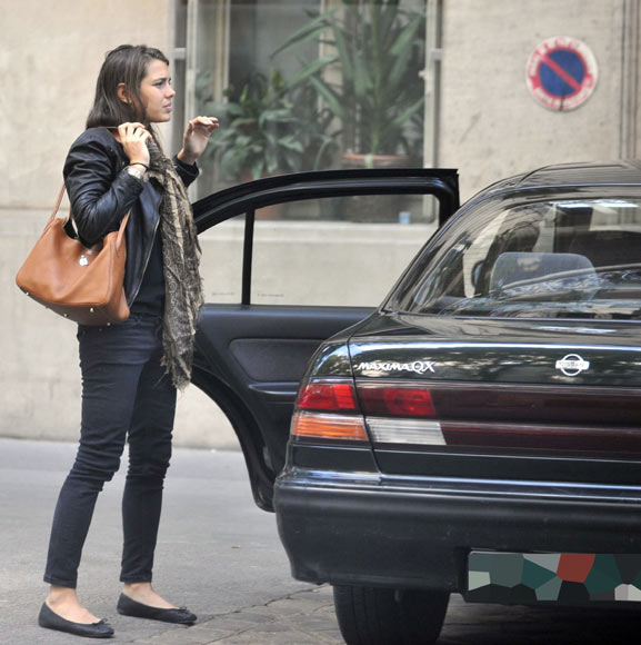 photo of Charlotte Casiraghi Nissan - car