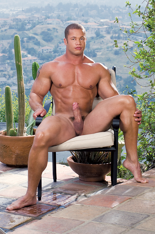Nude girl living room