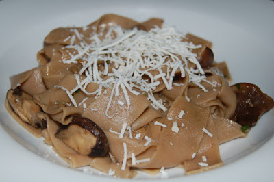 Chestnut Papardelle with Mushrooms