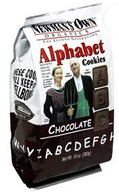 Newman's Own Organic chocolate alphabet cookies