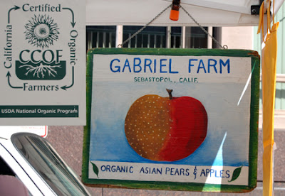 Photo of Gabriel Farms' homemade sign