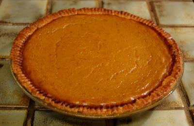 Photo of Sunday night's pumpkin pie - my first ever attempt!