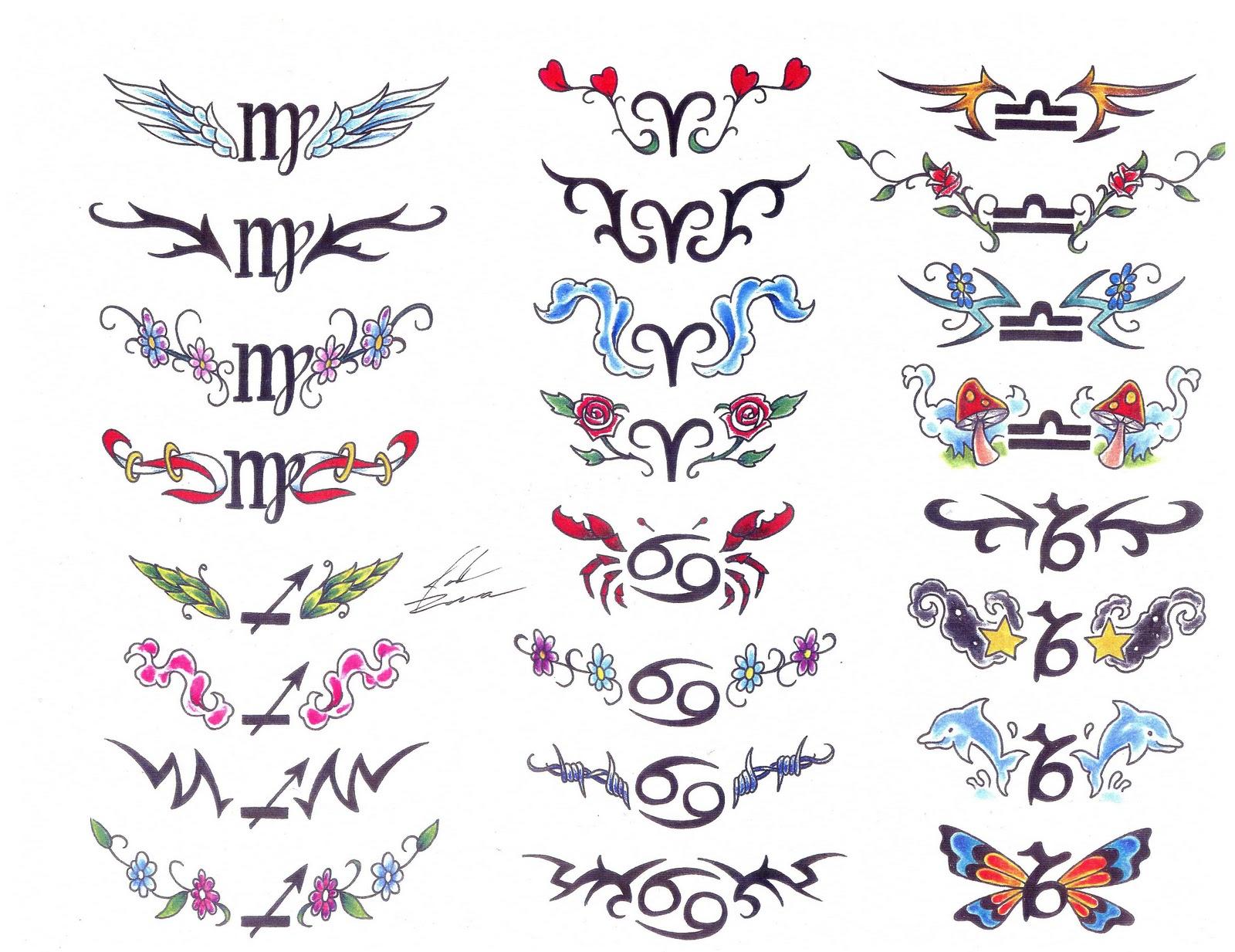 Знак зодиака тату символы