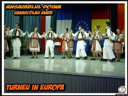 Ansamblul Doina in Europa