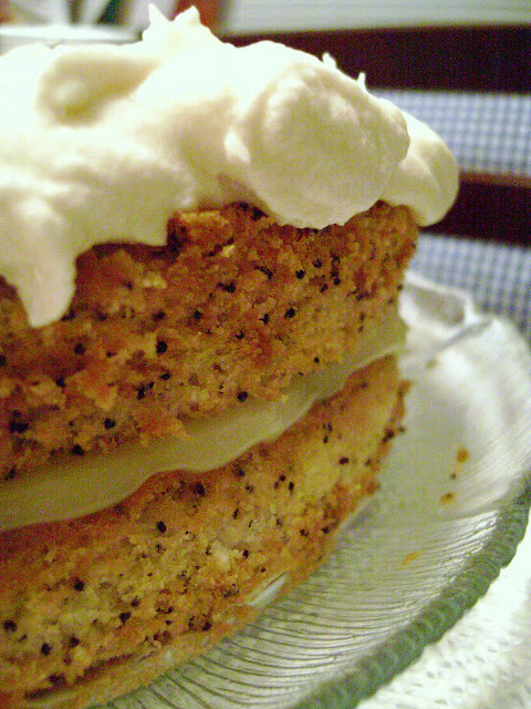 Old Fashioned Poppy Seed Cake With Lemon Custard Filling