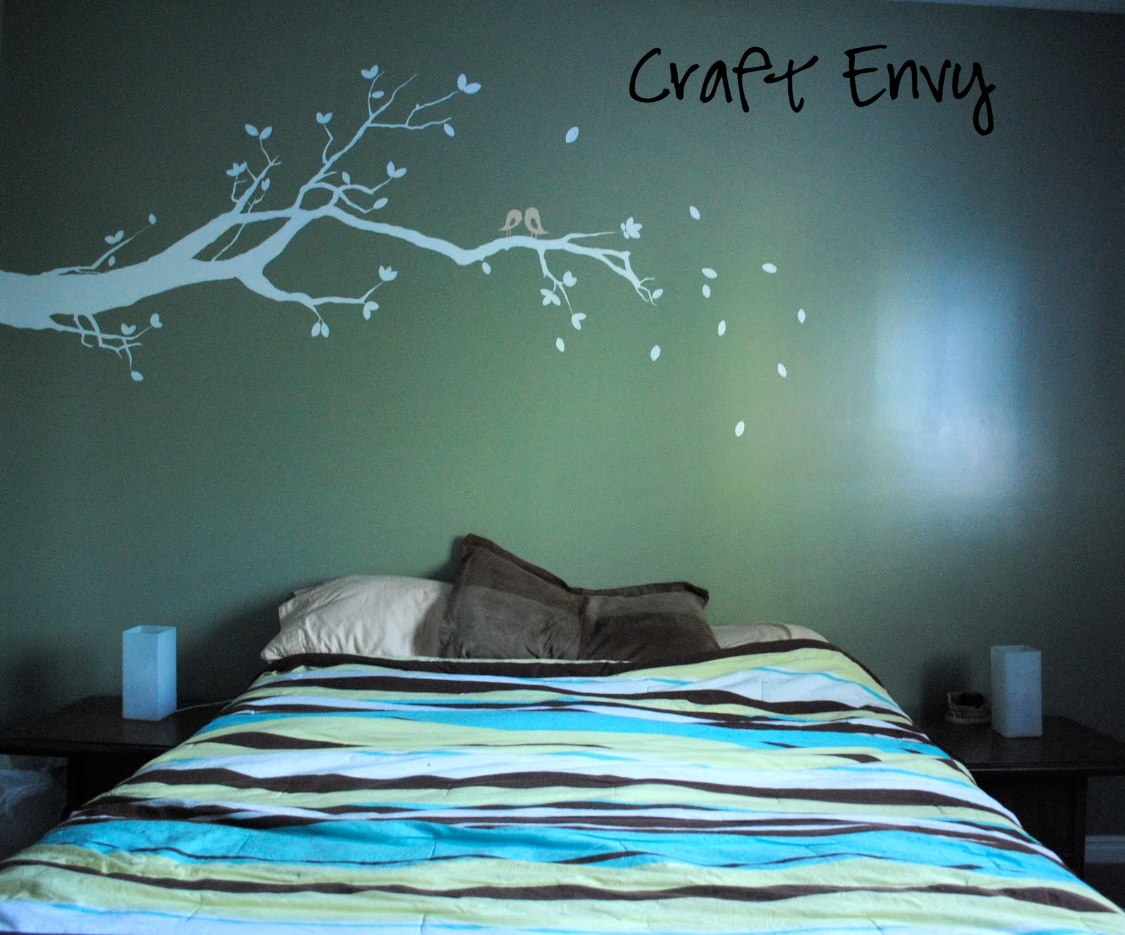 Craft envy painted tree branch with love birds painted tree branch with love birds amipublicfo Images