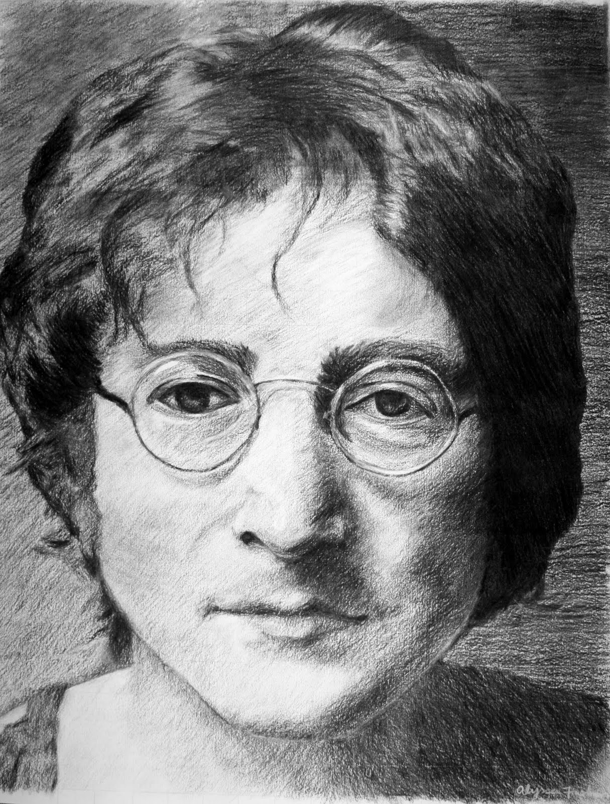 Line Drawing John Lennon : No lies just love click here to see my artwork and