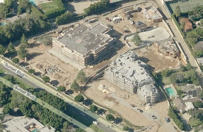 Two Beverly Hills Mega Mansions under Construction