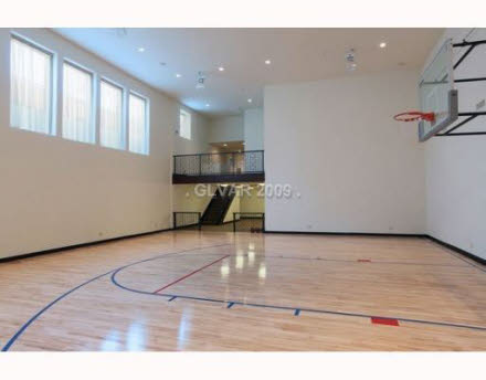 Nevada homes of the rich for How many square feet is a basketball court