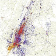 Locales vs. visitantes en Nueva York