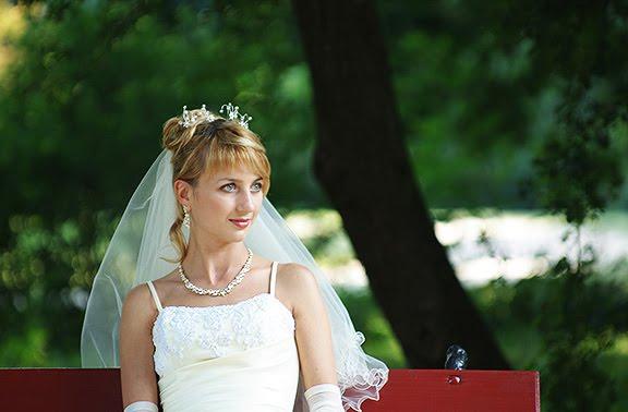 свадьба невеста скамейка парк wedding bride bench park