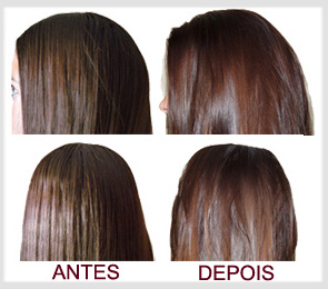 cabelo antes e depois da pomada em pó