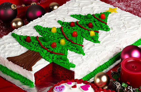 Funny Christmas Cards Tree Cake