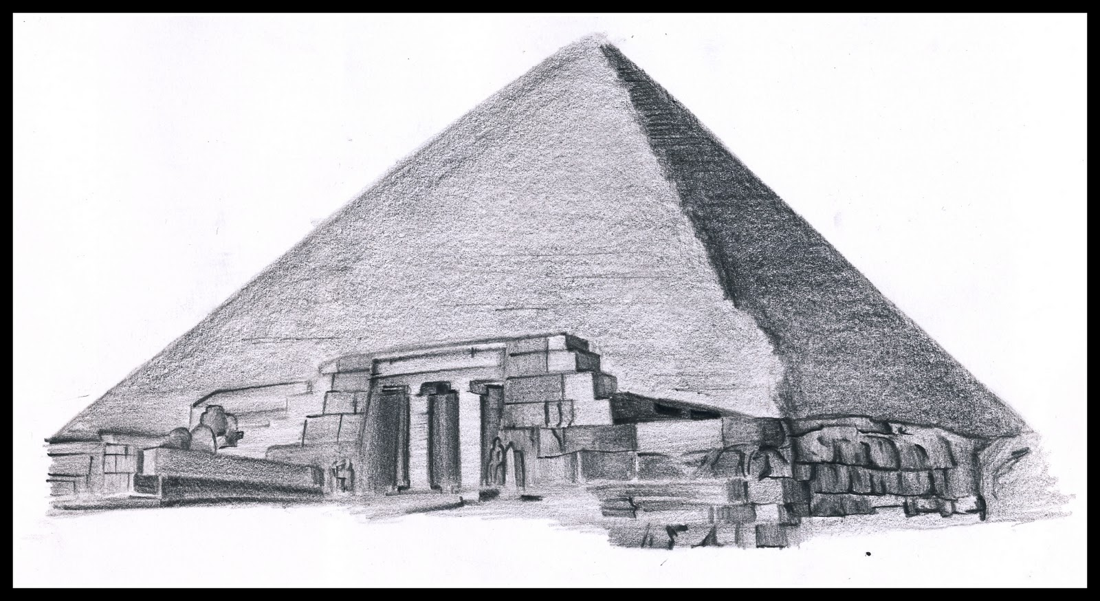 egypt pyramids drawings