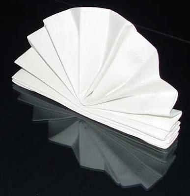 Сгъване на салфетка като ветрило
