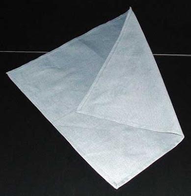 Сгъване на салфетка като вратовръзка