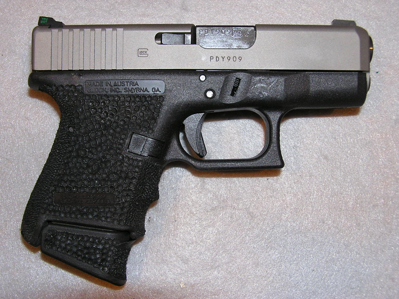 GALLERY: Glock 26/ reduction and mineral blast profiled slide