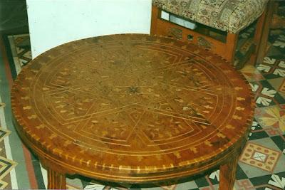 Antes de la restauración de mesa marroqui
