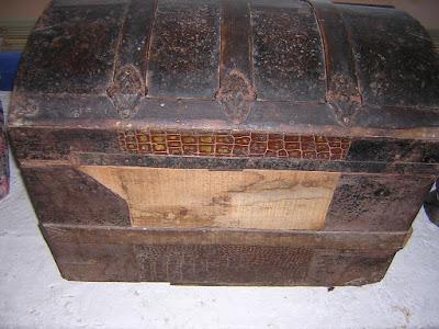 baúl antes de la restauración