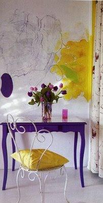 consola violeta