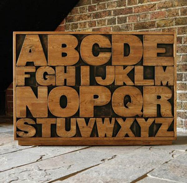 Alphabet Shaped Furniture