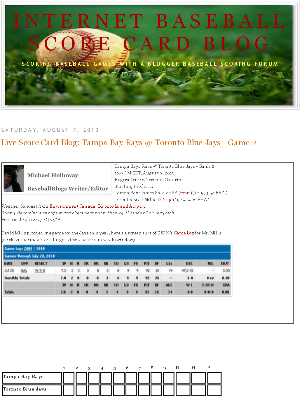 michael holloway s baseball blogs score card blog tampa bay rays