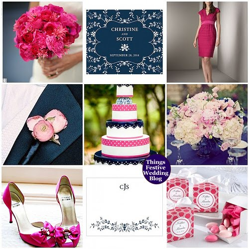Hot Pink Bridal Shower Invitations
