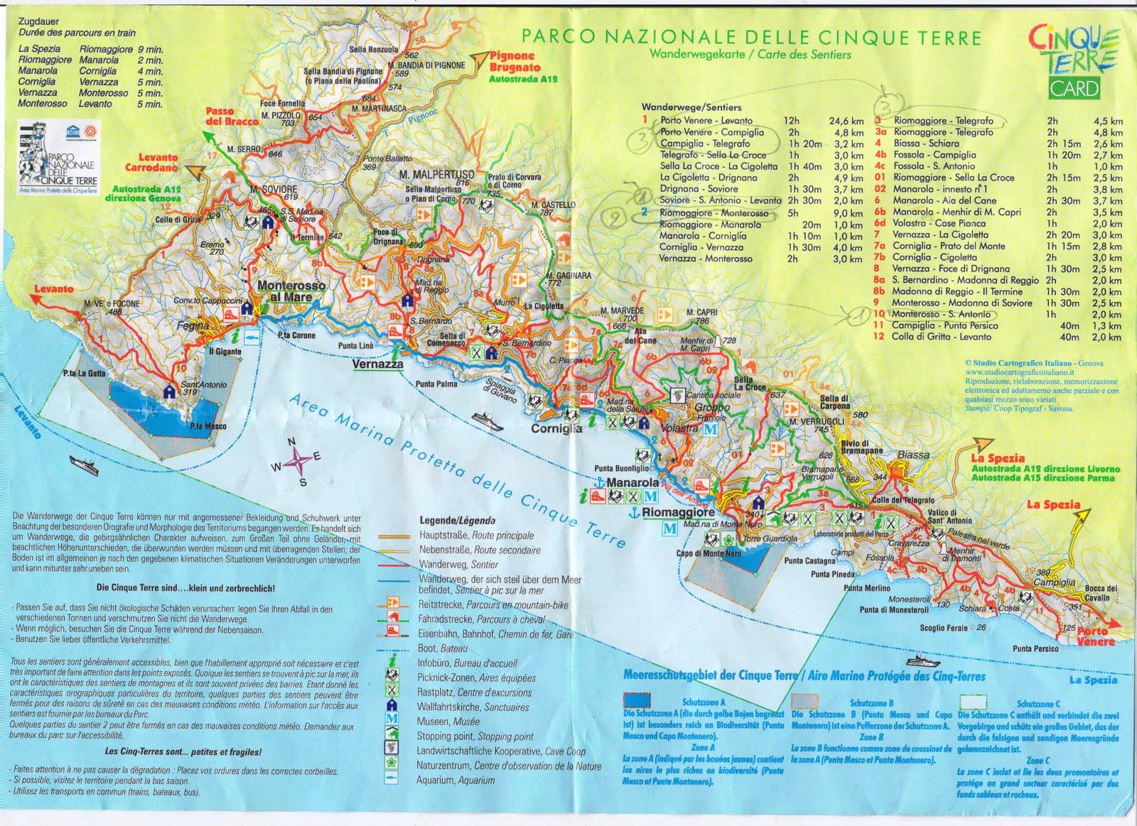 Célèbre Les 5 Terres Italie Carte NX33
