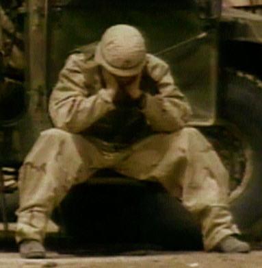 Discouraged Soldier