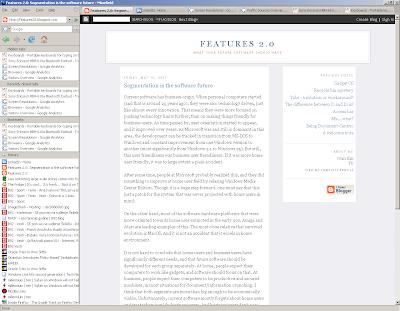 Sidebar navigation in Firefox screen shot