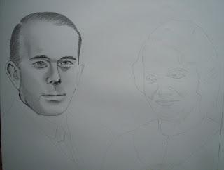 Pas à Pas Double portrait, étape 2