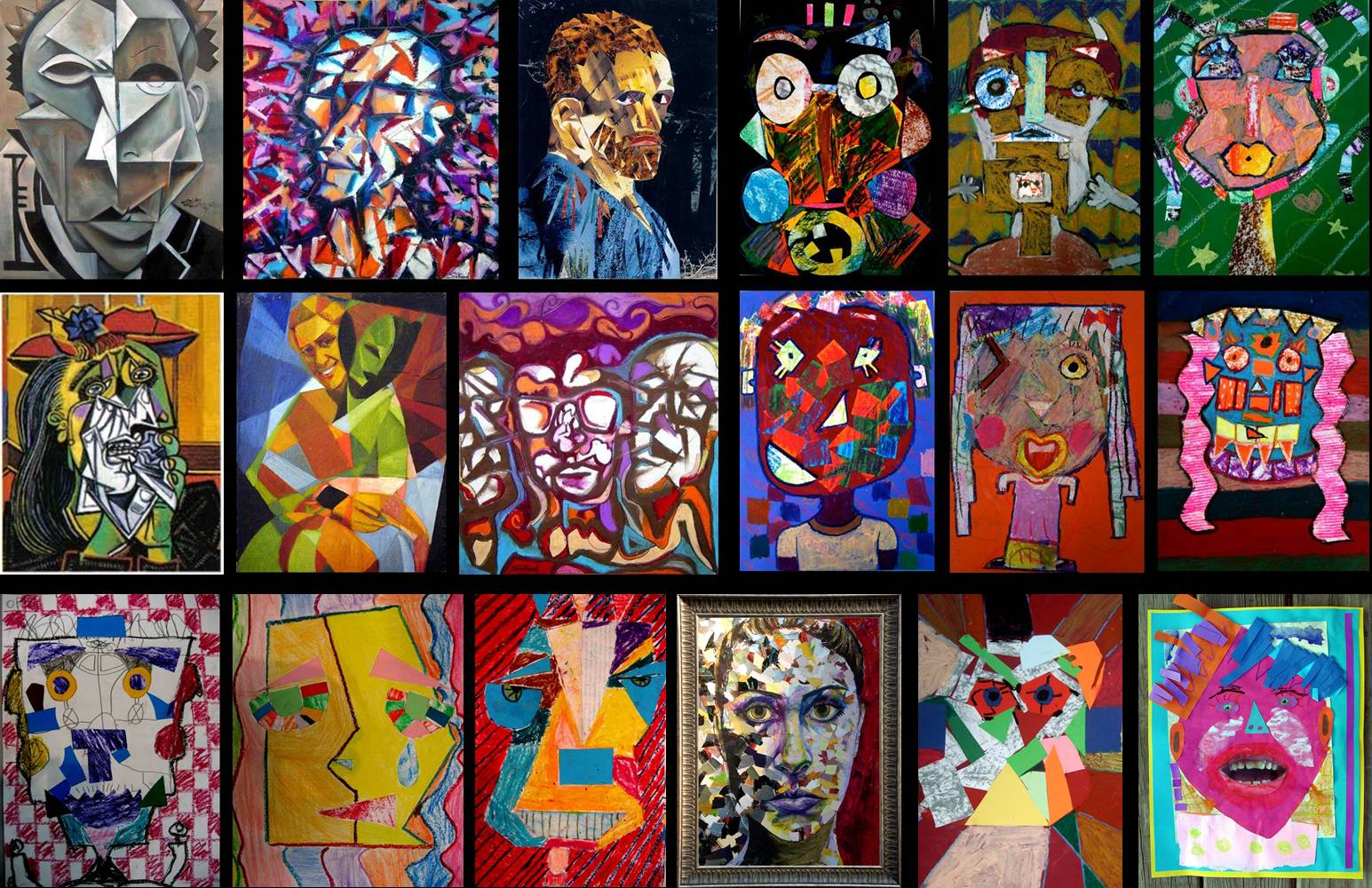 Picasso Cubist Faces To portraiture in cubism.