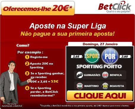 Rui Costa recomenda a BetClick