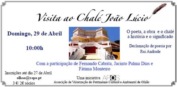 Visita ao Chalé João Lúcio - Uma iniciativa APOS (clique para ampliar)