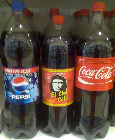 Pepsi, El Che e Coca-Cola