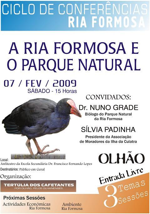 """Conferência """"A Ria Formosa e o Parque Natural"""" (clique para ver maior)"""