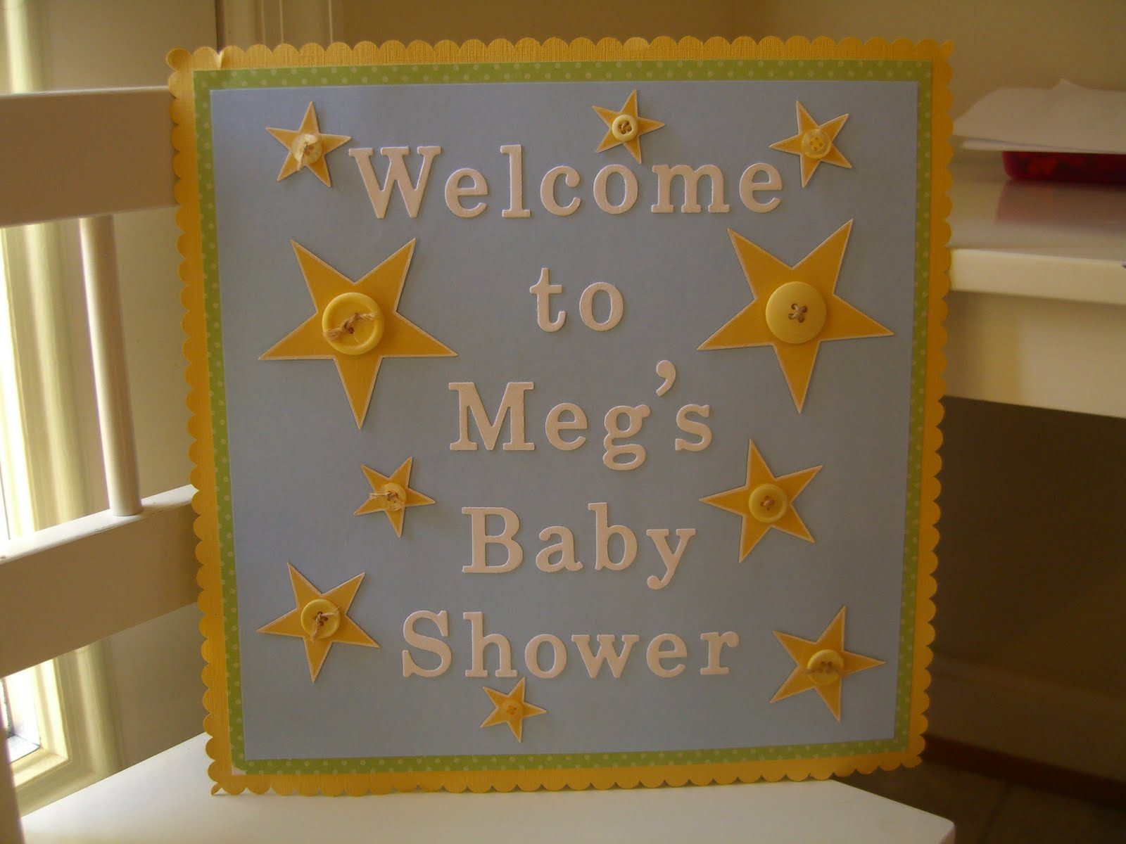 stampin 39 stacy baby shower welcome sign