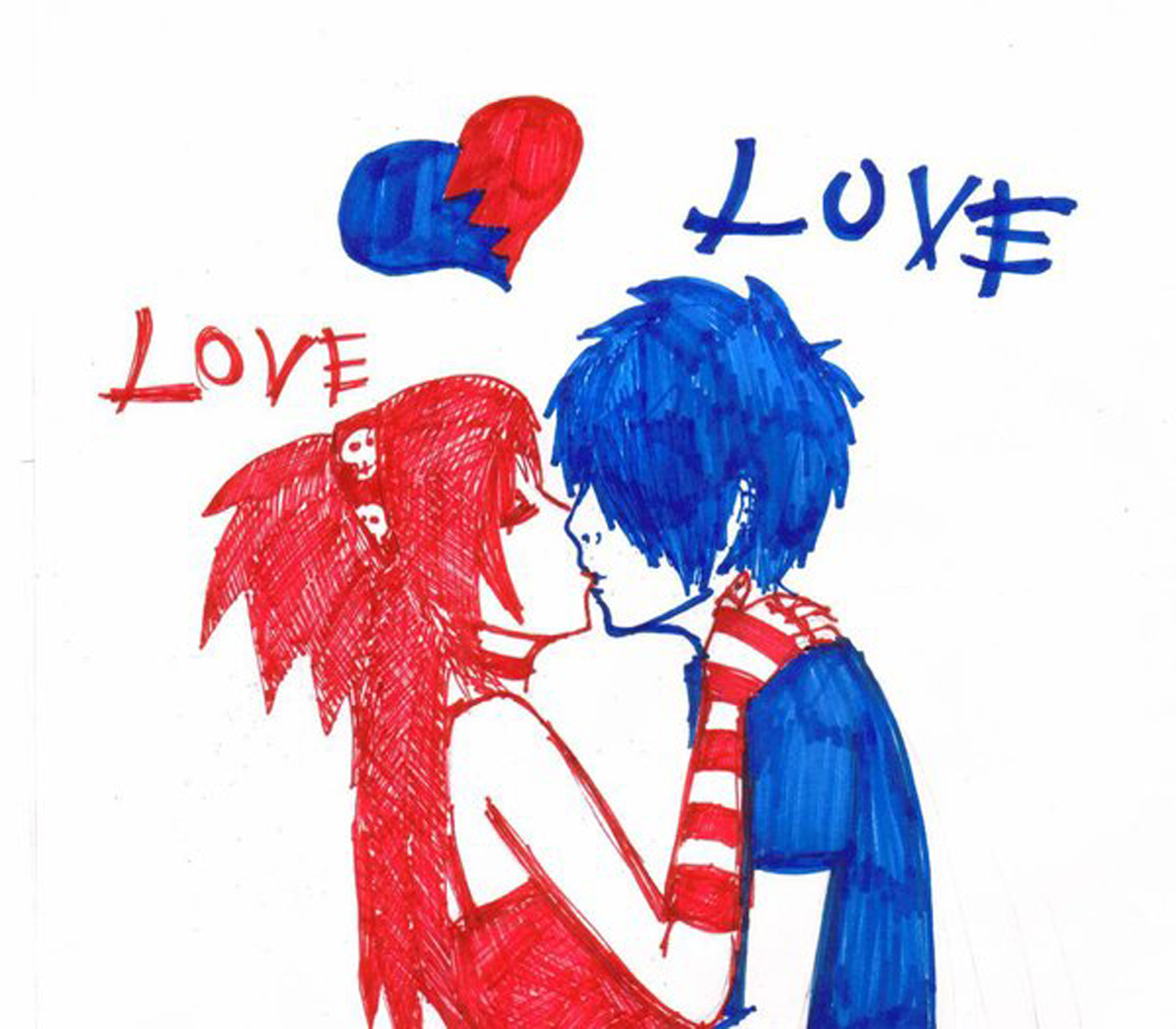 Cute Emo Love Drawings