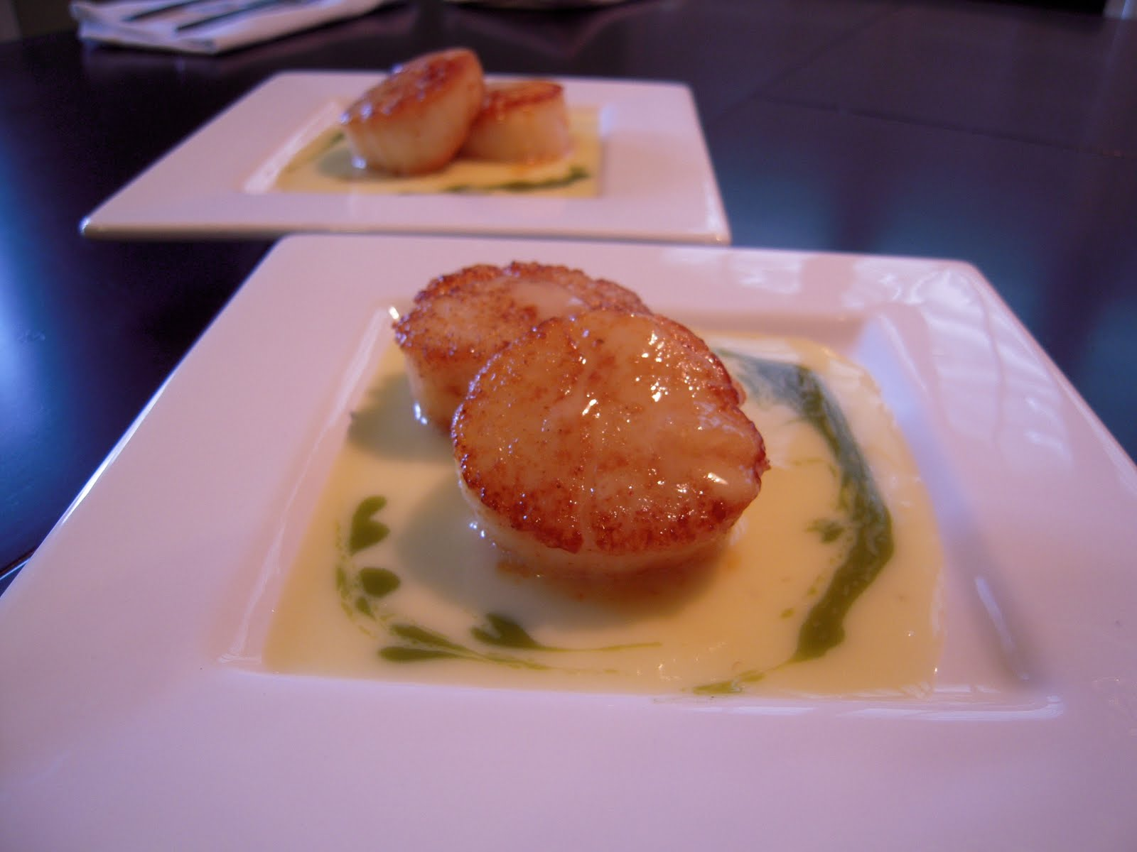 tarragon seared scallops with succotash seared scallops with tarragon ...