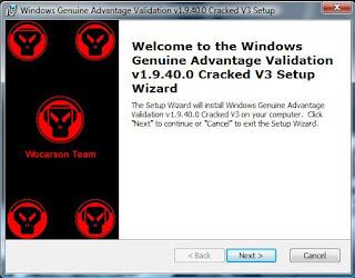 Windows Genuine Advantage Validation